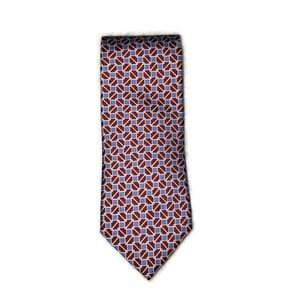 Brooks Brother's 346 Mens tie red blue, and white